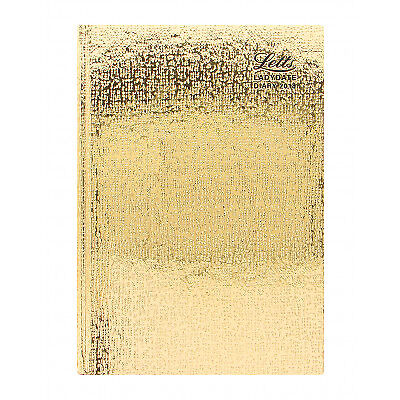 Letts Ladydate 2018 A5 Diary Week to View, Gold, Postage Included