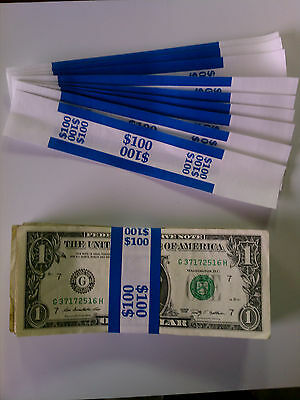 1000 - New Self-Sealing Currency Bands - $100 Denomination - Straps Money Ones
