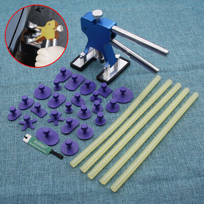 Car Paintless Dent Hail Dint Damage Repair Remover Puller Removal Tool Kit Blue