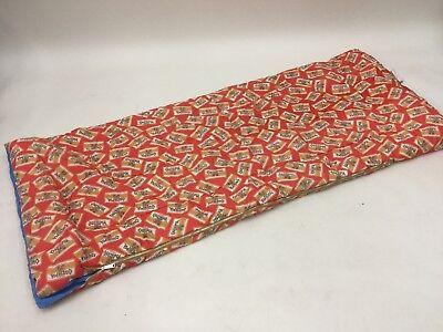 """Vintage Olympia Beer Sleeping bag Hunting,Camping, """" Its the Water""""  Blue Lining"""