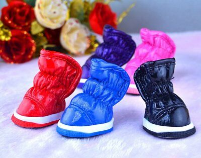 Winter Small Dog Boots Anti-Slip Puppy Shoes Pet Protective Snow Booties Hot