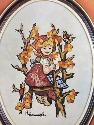 Hummel Stitchery Girl In Apple Tree By Sister Berta Hummel Stamped Picture Yarn