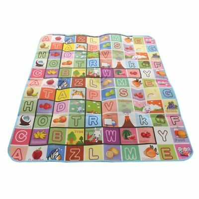 Kids Letter /  Number Dual Side Crawling Educational Play Mat Colourful UK