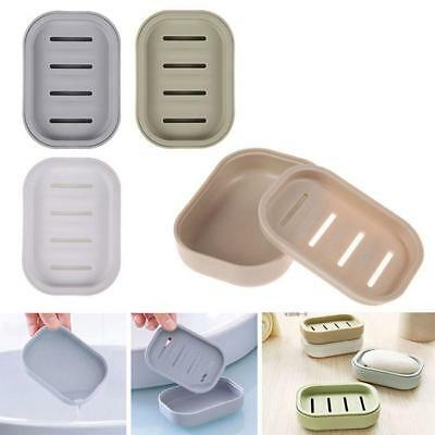 1PC Soap Dish Case Holder Travel Container Carry Box Bathroom With Cover JA