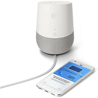 new Google Home Voice Activated Assistant Speaker Streamer - White Slate - Brand