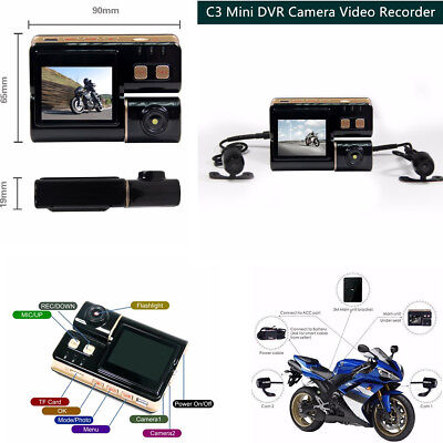 2″ C3 Latest Sports Waterproof Action Motorcycle Mini DVR Camera Video Recorder