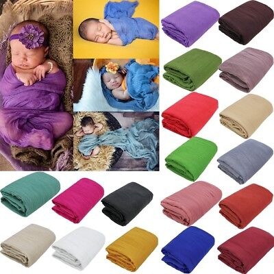 180*90cm Newborn Infant Baby Boy Girl Cheesecloth Wrap Photography Photo Props