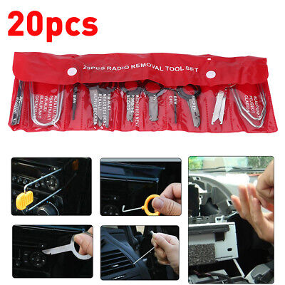 20x Car Interior Audio Stereo CD Player Radio Removal Key Release Removal Kit wt