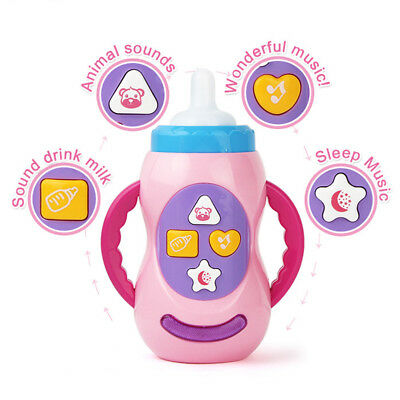 Infant Baby Milk Bottle Toy Learning Music Sound and light  Educational Toys