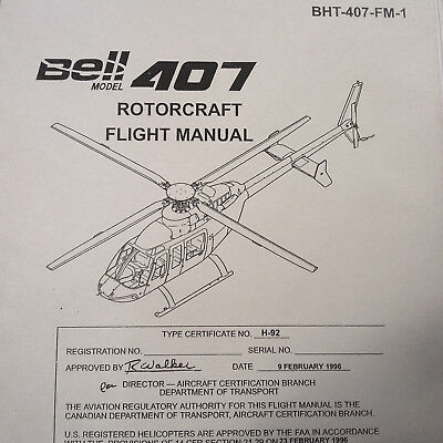 Bell 407 Helicopter Flight Manual