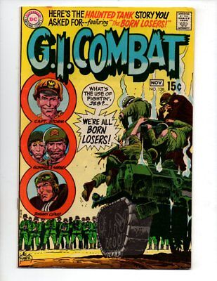 """G.I. Combat #138 (Oct-Nov 1969, DC) VF+ 8.5 """"INTRO THE LOSERS IN HAUNTED TANK"""""""