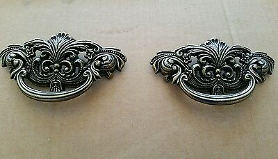 2 Matching Vintage Look Cast Metal Drawer Pulls Handles 3 Inch Center To Center