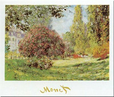 The Park At Monceau by Claude Monet 20x16 Museum Art Print Poster