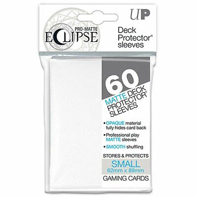 ULTRA PRO DECK PROTECTORS SMALL 60ct Pro Matte Non Glare 62 x 89 Eclipse White