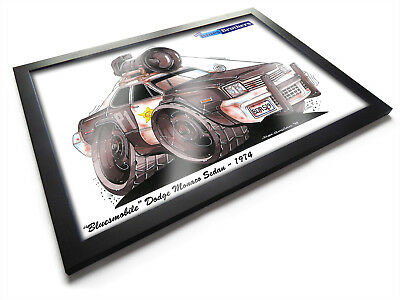 THE BLUES BROTHERS BLUESMOBILE Movie Car Framed Koolart Print A2 A3 Size Poster