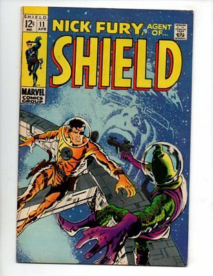 """Nick Fury, Agent of SHIELD #11 (Apr 1969, Marvel) VF 8.0 """"SMITH COVER"""""""