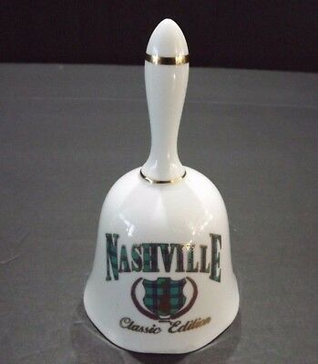 "Ceramic Nashville Bell      5"" tall,     FREE SHIppINg & Tracking"