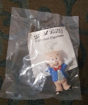 1990 Shell Looney Tunes Collectible Figurine - Porky Pig