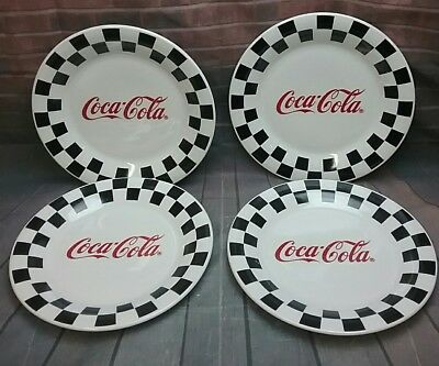 Coca cola Gibson Checkered Plates,Set of 4