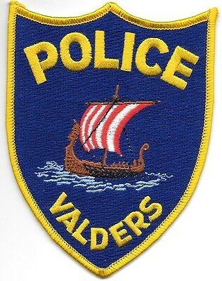 """Valders, Wisconsin (3.75"""" x 5"""" size) shoulder police patch (fire)"""