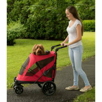 Pet Gear Excursion NO-ZIP Dog Cat Stroller Zipperless Push Button Entry 4 Color