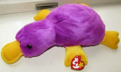 c749ec6aed7 TY Beanie Baby Buddy Patti The Platypus Purple 15