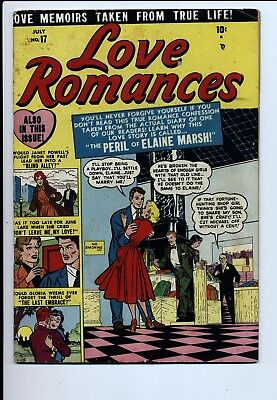 Love Romances #17 Vg+ Atlas 1951