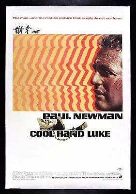COOL HAND LUKE ✯ CineMasterpieces VINTAGE ORIGINAL MOVIE POSTER PAUL NEWMAN 1967