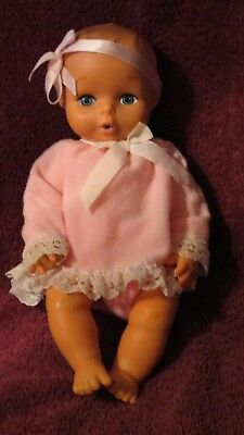 "Vintage Rubber Drink/Wet Baby Doll 10""  in Pink   8726 HK on Neck"