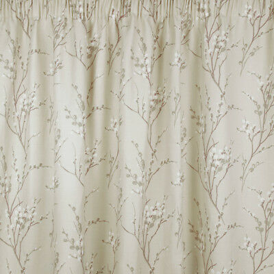 PussyWillow Ready Made Curtain in Natural in Natural