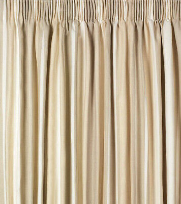Awning Stripe Ready Made Curtains in Natural in Natural
