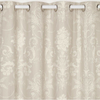 Josette Ready Made Curtain in Dove Grey in Grey