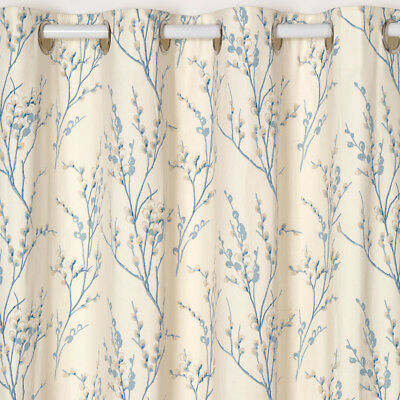 PussyWillow Ready Made Curtain in Blue