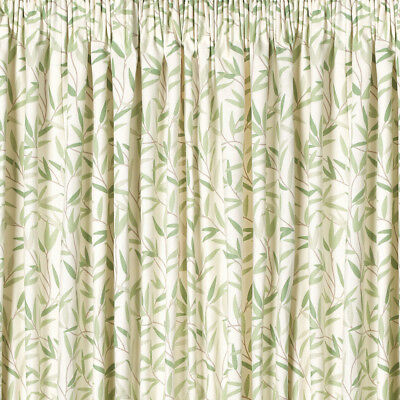 Willow Leaf Ready Made Curtain in Hedgerow in Green