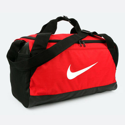 c36c2b6932f Nike BRASILIA 6 SMALL Duffel Bag Shoulder Belt Red Gym Sport Bag BA5335-657
