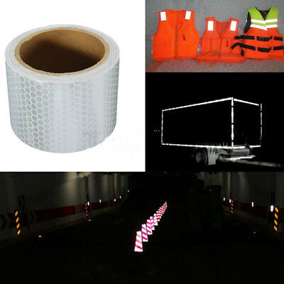 UK 300cmx5cm Reflective Roll Tape Safety Warning Self-Adhesive Stickers HOT SALE