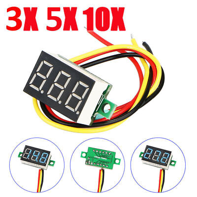 Mini DC 0-30V Digital Blue LED Display Voltage Voltmeter Panel Meter w/3 Wires