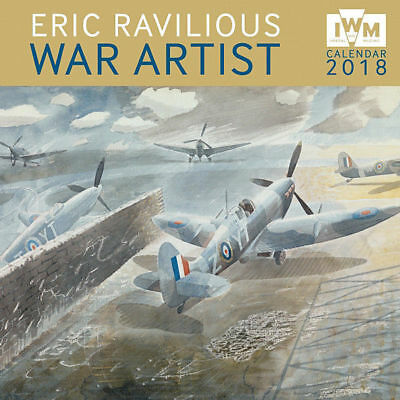 Eric Ravilious War Artist 2018 Square Wall Calendar by Flame Tree, Free Postage