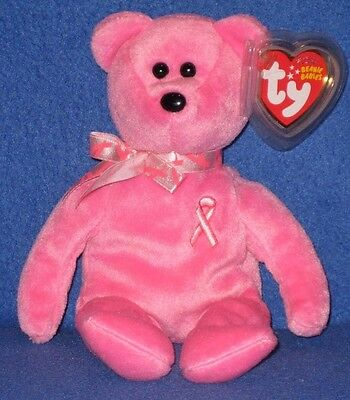 TY HOPE the PINK BEAR BEANIE BABY - MINT with MINT TAGS