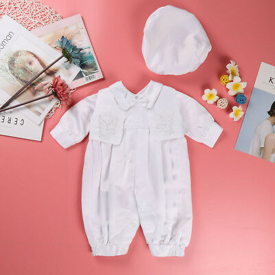 Baptism Baby Boy Outfit Handmade Christening Newborn Toddler Ivory Clothes Gift