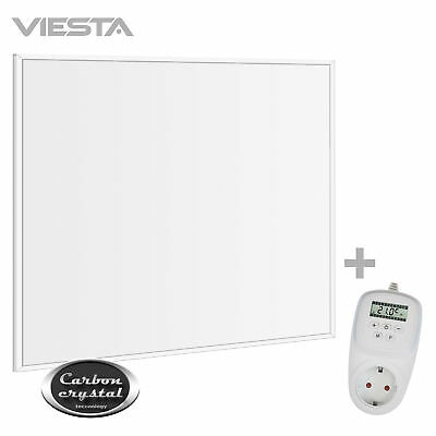 """Viesta 360 W 62x62cm Infrarotheizung """"Carbon Crystal"""" Heizung + TH12 Thermostat"""