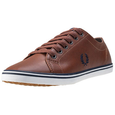 Fred Perry Kingston Unisex Trainers Tan New Shoes