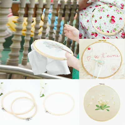 13-34cm Wooden Cross-stitch Supply Hoop Frame Ring Embroidery Tool Craft Sewing
