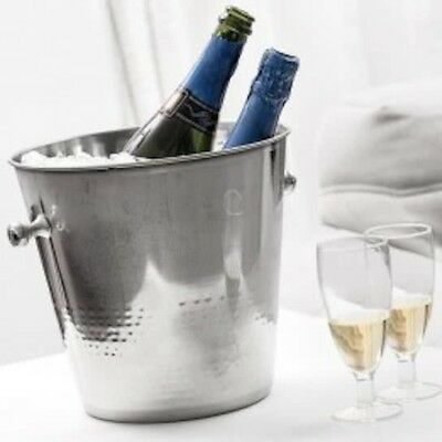 Hammered Stainless Steel Large Wine Bucket / Champagne Bucket Ice Bucket Cooler