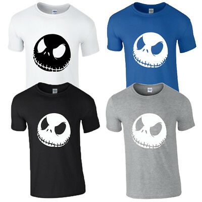 Adults Halloween Jack Skellington Face The Nightmare Before Christmas t-shirt
