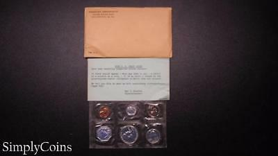 1958 Proof Set ~ Original Envelope With COA ~ US Mint Silver Coin Lot SKU-682