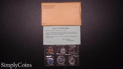 1959 Proof Set ~ Original Envelope With COA ~ US Mint Silver Coin Lot SKU-686