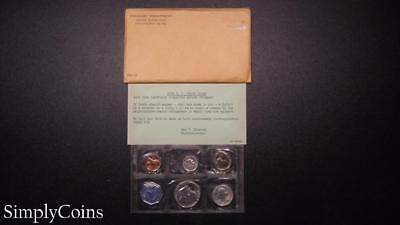 1959 Proof Set ~ Original Envelope With COA ~ US Mint Silver Coin Lot SKU-685