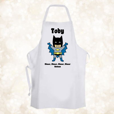 Personalised Superhero Batman Chef Baking Cooking Apron Unique Gift