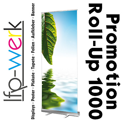 Roll-Up Display 100x215cm inkl. 6-Farb-Latex-Digitaldruck auf Displayfilm